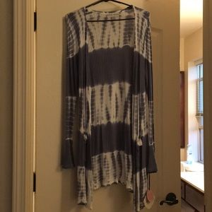 NWT Knox rose tie dye long cardigan